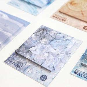Großhandels-30 Blatt-diy kreative Natur Wolke Eis Holz Meer Neuheit Haftnotizen Planer Aufkleber Notizblock Stationäre Bürobedarf