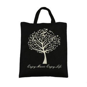 Global Hot Selling Pure Cotton Handbag Tote Bag Shopping bags With Cute Music Tree