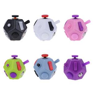 Cubo mágico de plástico de múltiples caras Fidget Dados Juguete Niños Juguete Educativo Regalo de Navidad Oficina Antiestrés Ansiedad Cubo de juguete para adultos