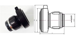 شحن مجاني 18mm وHD محول كاميرا المنظار، المنظار مقرنة البصرية، CCD عدسة HD، بكسل دقة 1280X1024