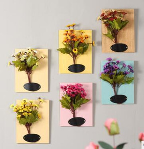 Stereo plant wall decoration living room simulation floral wall ornaments pendant