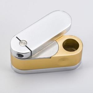 Messing Metall Twist mit Stash Fischer Freund Affe Rohr Metall Rohr Kraut Rohr Rauch Werkzeug Quarz Titan Nagel 031
