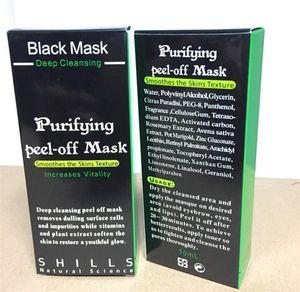 Shills Masques pour le visage Peel-off Deep Cleansing Black MASK 50ML Blackhead Masque Facial Shills Deep Cleansing Noir MASK Matte DIY A08