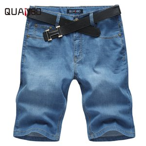 Wholesale- Mens Denim Shorts 2017 New Summer Regular Casual Elasticity Men Brand Jeans Shorts Plus size 52 Fashion Light blue Jeans Shorts