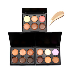 New 6 Colors Stereo Contouring Concealer Palette Mini Flawless Concealer Makeup Face Hide Scars Cover Dark Circles Cosmetic Creams