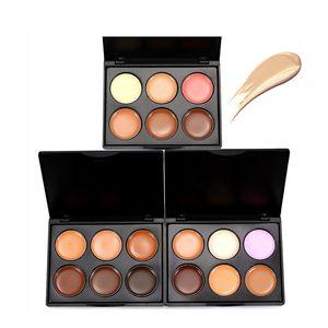 Nouveau 6 couleurs stéréo Contouring Correcteur Palette Mini défauts Correcteur Maquillage Cache-cache Couvre des cercles foncés Crèmes cosmétiques