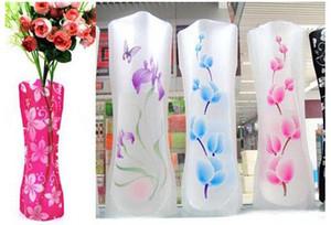 12 * 27 cm Criativo Limpar Eco Dobrável Dobrável Flor PVC Vaso Inquebrável Reutilizável Casa Decoração de Festa de Casamento