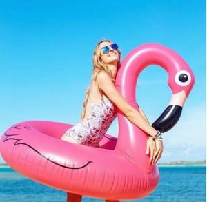 120 cm aufblasbare flamingos schwan schwimmring sitz boot wasser schwimmen ring pool schwimmen float schwimmbad strand spielzeug für erwachsene