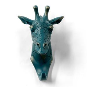 Herngee Giraffe Head simple crochet / animal en forme de manteau crochet crochet Heavy Duty, rustique, recyclé, cadeau de décoration, bronze décoratif