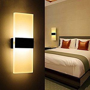 Lâmpada LED Wall 12w quadrado acrílico metal Home Lighting Lamp Pared Stair Banho Ferro arandela Luminar KTV Bar Corredor Decore Wall Light