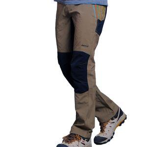 Pantalones de escalada de senderismo de secado rápido a prueba de agua de los hombres, Pantalones de pesca de senderismo de calidad superior al aire libre de verano