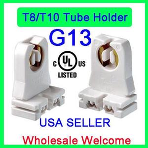 UL Listed Non-shunted T8 Lampenträger, Ruixin Socket Tombstone für LED-Leuchtstoffröhren Ersatz-Lampenfassung (20-Pack)