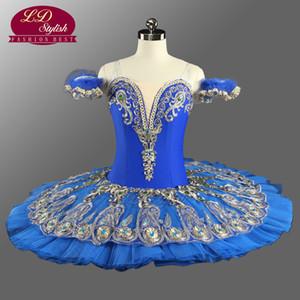 Raymonda Professionelle Ballett Tutus Blau Prinzessin Florina Klassische Pfannkuchen Tutu Kostüme Erwachsene Professionelle Ballett Tutu Blau LD0075