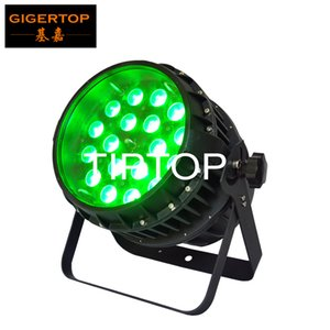 TIPTOP TP-P81 18 * 12W impermeável Led Zoom Light Par 5/9 DMX512 Chanenls IP65 Zoom 10-60 Grau Ajuste exterior RGBW 4IN1 100V-220V
