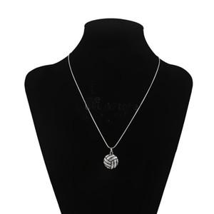 Оптовая продажа-1 шт. новый дизайн мода сплав горный хрусталь волейбол змея цепи подвески ожерелье случайный цвет