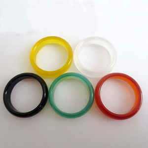 Jade Band Rings Hot Sale 5mm Agate finger ring for Women Men Fashion Jewelry Wholesale Free Shipping 00