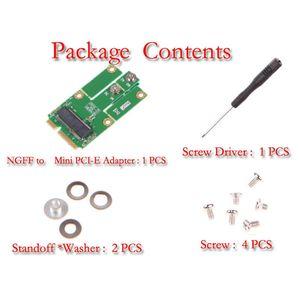 Freeshipping Nuevo M2MP1 (M.2 NGFF a Mini PCIe (Adaptador PCIe + USB) Soporte de tamaño completo y medio tamaño Ranura mPCIe / Mini Tarjeta Bluetooth