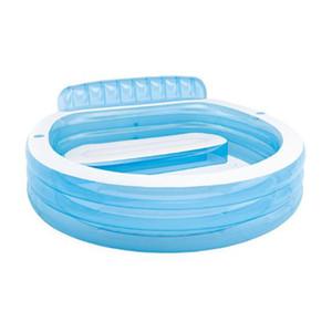 아기 어린이 여름 야외 플레이를위한 등받이 가족 패들링 풀 3 반지 풍선 라운드 수영장