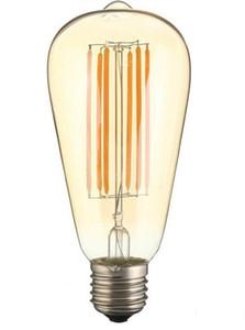 E27 ST64 2W / 4W / 6W8W Edison Light лампочка Урожай ретро поют светодиодная нить лампочки лампы теплые белые 85-265V светодиодные лампочки LLFA