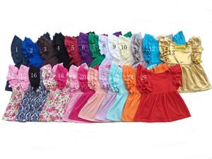 2017 Date Été D'été Bébé Filles T-shirts Floral Imprimer Enfants Top Mouche Mouche Poulet Toddler Tees Mode Enfants Tops Enfants Vêtements