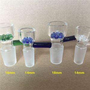 14mm 18mm Schneeflocke Filter Glasschalen für Glas Wasserleitungen und Bongs Esche Glas Shisha Schüssel Öl Rigs