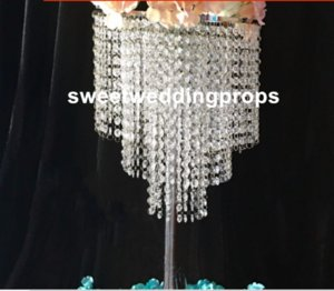new style )beautiful cheap crystal flower stand centerpieces for wedding