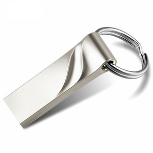 새로운 금속 키 USB 플래시 드라이브 실제 용량 4 기가 바이트 8 기가 바이트 16 기가 바이트 32 기가 바이트 64 기가 바이트 방수 펜 드라이브 패션 엄지 USB 2.0 메모리 스틱