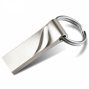 Yeni Metal Anahtar USB Flash Sürücü Gerçek Kapasite 4 gb 8 gb 16 gb 32 gb 64 gb Su Geçirmez Kalem Sürücü Moda Başparmak USB 2.0 Memory Stick