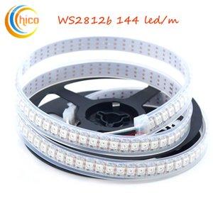 Ws2812b ws2812 led streifen lichter 144led / m smd 5050 rgb streifen licht traum farbe veränderbare effekte wasserdicht weiß pcb dc5v