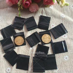 """Ücretsiz Kargo Opak Siyah Zip Kilit Çanta Mini 500 adet 2.5x3 cm Açılıp Kapanabilir Plastik Kilitli Baggies 1 """"x1.2"""" 8mil Kavrama Mühür Çanta"""