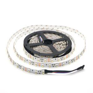 صف مزدوج مقاوم للماء RGBW RGBWW LED الشريط 5050 RGB + 2835 أبيض / أبيض دافئ DC12V 120Leds / m