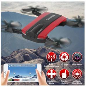 JXD523 Tracker Pieghevole Quadcopter Phone app controllo RC JJRC H37 6 assi Gyro WIFI FPV HD Camera RC Quadcopter G-sensor Selfie Drone JXD 523