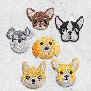 Demir On Yamalar DIY Işlemeli Yama etiket Giyim giysi Için Kumaş Dikiş sevimli köpek tasarım