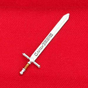 왕좌의 게임 칼 고대 실버 편지 오프너 칼 공예 노래 얼음과 불 무기 소장 가치 영화 보석 080090