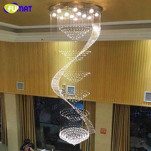 Lustre Moderne LED K9 Cristal Lampes Long Pendant Lustre Lustres De Cristal Kronleuchter Spirale Lustre