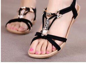 2017 sandalias de las mujeres flips flops zapatos de verano de las mujeres banda elástica sandalias planas de punta abierta zapatos de playa tamaño 39 40 School Girl beige