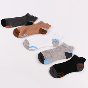 New 5 pairs of mixed color clothing men's cotton socks duck tongue followed by sports socks breathable deodorant socks men
