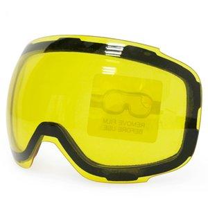 Оптовая продажа-оригинальный желтый Graced магнитные линзы для лыжные очки GOG-2181 противотуманные UV400 сферические лыжные очки снег очки ночные лыжи