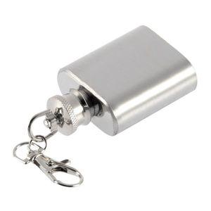 Forte Durable Portable 1oz Mini Flacon En Acier Inoxydable Flacon De Vin D'alcool Avec Keychain ballon de haute qualité