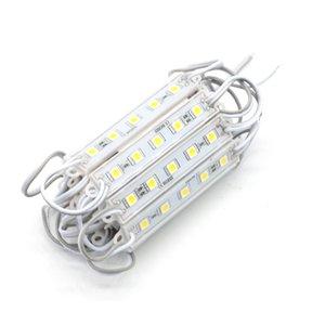 20 ADET 5050 SMD 5 LEDs LED Modülü Beyaz / Sıcak Beyaz / Kırmızı / Yeşil / Mavi Su Geçirmez Işık Reklam lamba DC 12 V Toptan