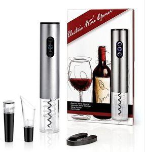 Elektrischer Weinöffnersatz Automatischer Weinflaschenöffner schnurlos mit Folienschneider und Vakuumstopper