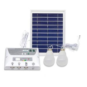 6 세트 4.5W 태양 전지 패널 5000mah 배터리 모바일 전원 은행 LED 전구 램프 태양 집 조명 시스템 긴급 조명