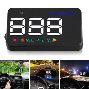 범용 A5 3.5 인치 자동차 헤드 업 디스플레이 윈드 실드 프로젝터 속도계 과속 경고 GPS 위성 2 디스플레이 모드 CAL_40A