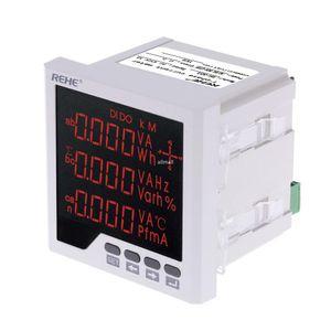 내장형 다용도 전력계 Freeshipping LED 디지털 3 상 전압계 전류계 AC 전압 전류 역률 주파수 측정