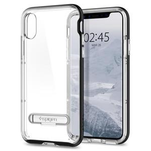 iphone X iphone 8 iphone 8 artı samsung Note8 mıknatıs stent çıkarılabilir ile SGP Spigen kristal hibrid