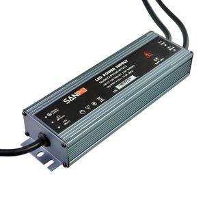 SANPU Ultra Thin Power Supply Waterproof IP67 12V 24V 150W AC-DC Lighting Transformer LED Driver Aluminum for LEDs Strips Lights