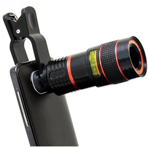 8x 12x clip-on lente do telefone telescópio zoom universal câmera lente telefoto zoom telescópio lente de aumento lente óptica