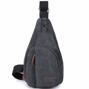 Single Shoulder Bag Unbalanced Chest Haversack Mobile Phone Pouch Small Stuff Cross Body Men Canvas Bag Casual Outdoor Travel Sling Pack