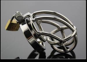 estilo clásico de los hombres dispositivo de castidad jaula de acero inoxidable Cockcage Gallo y el anillo BDSM sexo adulto Producto Bondage Fetiche FF081
