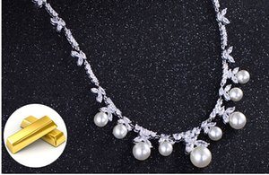 Evening Quality 2021 Wedding Exquisite Necklace Pearls Rhinestone Set Platinum New Earring Prom For High Bridal Jewelry Brand Wmmfm